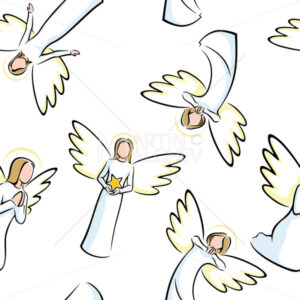 Angels Seamless Pattern - Martin Malchev