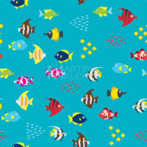 Cartoon Fish Pattern - Martin Malchev