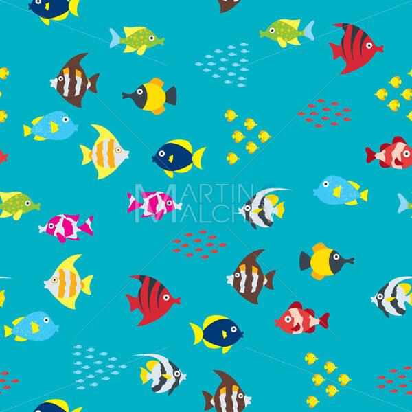 Cartoon Fish Pattern - Martin Malchev