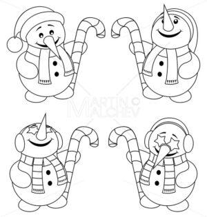 Little Snowman Line Art - Martin Malchev