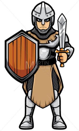 Medieval Soldier on White - Martin Malchev