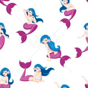 Mermaid Seamless Pattern - Martin Malchev