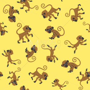 Monkeys Seamless Pattern - Martin Malchev