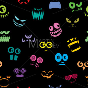 Monsters Halloween Pattern - Martin Malchev