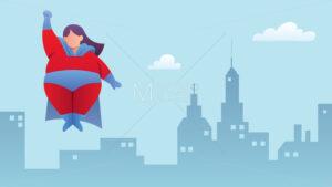 Overweight Superheroine Flying - Martin Malchev