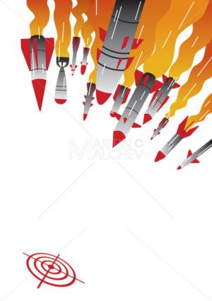 Rocket Attack Illustration - Martin Malchev