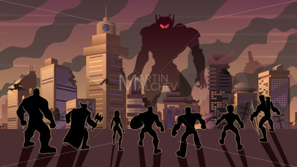 Super Team Versus Evil Robot - Martin Malchev