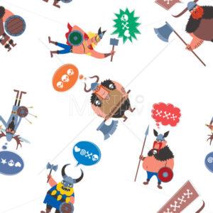 Viking Seamless Pattern - Martin Malchev