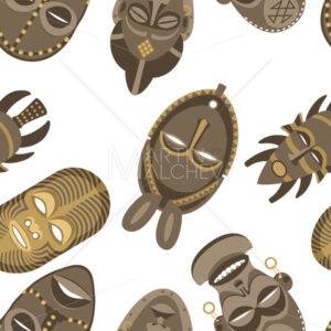 African Masks Pattern - Martin Malchev