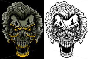 Evil Skull with Hair - Martin Malchev