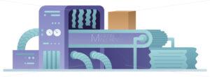 Manufacturing Machine Flat Design - Martin Malchev
