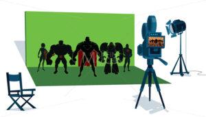 Superhero Team Movie Set - Martin Malchev