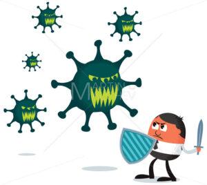 Businessman Fighting Virus - Martin Malchev