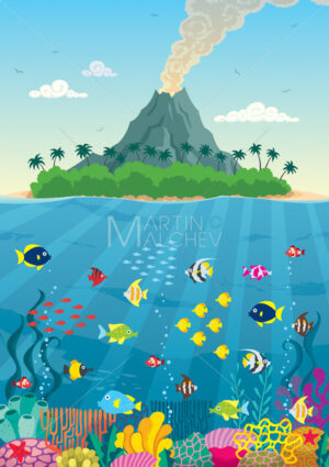 Island Reef and Volcano - Martin Malchev