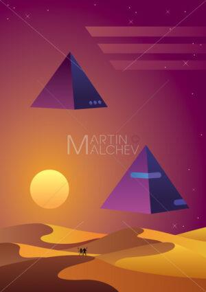Synthwave Desert Background - Martin Malchev