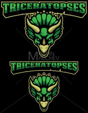 Triceratopses Mascot Logo - Martin Malchev