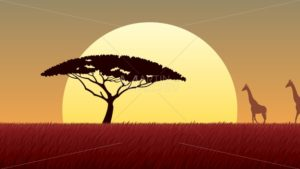 African Landscape Sunset - Martin Malchev