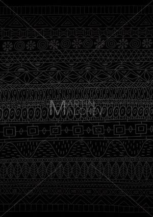 African Pattern Minimal Black - Martin Malchev