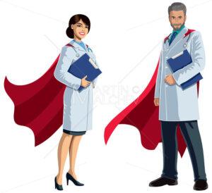 Doctor Superheroes on White - Martin Malchev