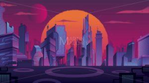Futuristic City Landscape - Martin Malchev
