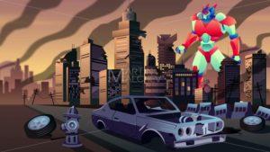 Giant Robot in City - Martin Malchev
