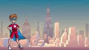 Little Super Boy City Background - Martin Malchev