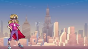 Little Super Girl City Background - Martin Malchev