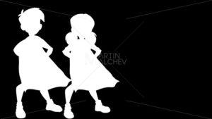 Little Super Kids on White Background - Martin Malchev