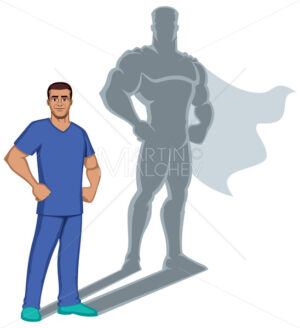 Nurse Superhero Shadow - Martin Malchev