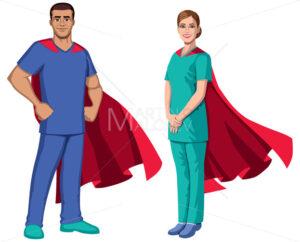 Nurse Superheroes on White - Martin Malchev
