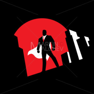 Super Businessman Background Symbol - Martin Malchev