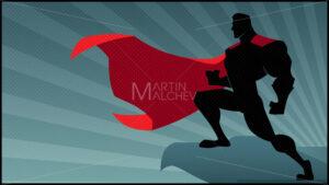 Superhero Roof Watching Silhouette 2 - Martin Malchev