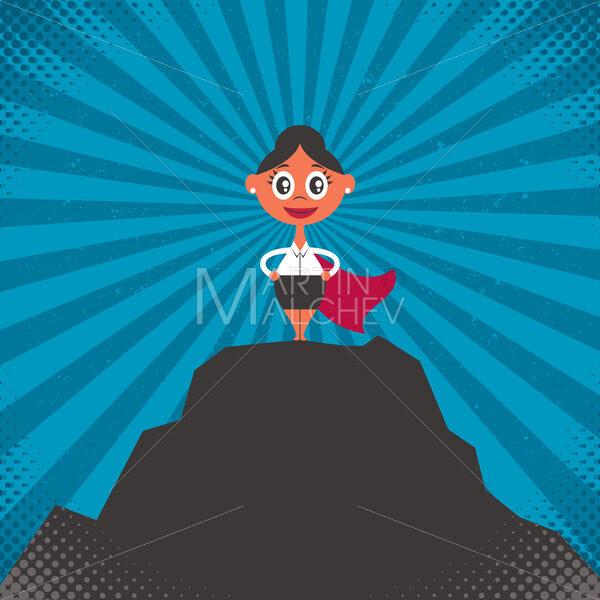 Businesswoman Success Illustration - Martin Malchev