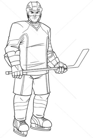 Hockey Player Line Art - Martin Malchev
