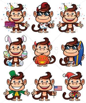 Monkey Holiday Set - Martin Malchev