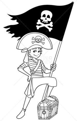 Pirate Boy Line Art - Martin Malchev