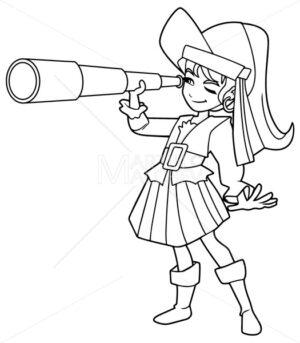 Pirate Girl Line Art - Martin Malchev