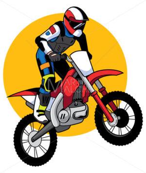 Motocross Racer Mascot - Martin Malchev