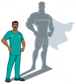Indian Nurse Superhero Shadow - Martin Malchev