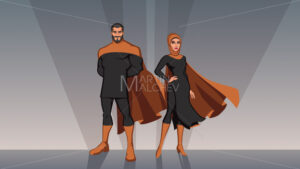 Middle Eastern Superhero Couple - Martin Malchev