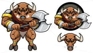 Minotaur Mythology Mascot - Martin Malchev