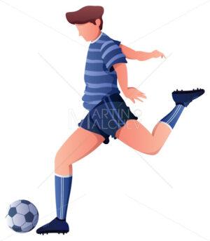 Football Player Kicking Ball - Martin Malchev